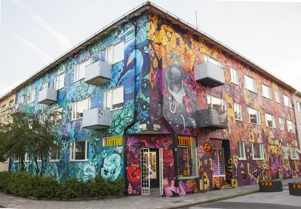 sveriges färg gladast hus
